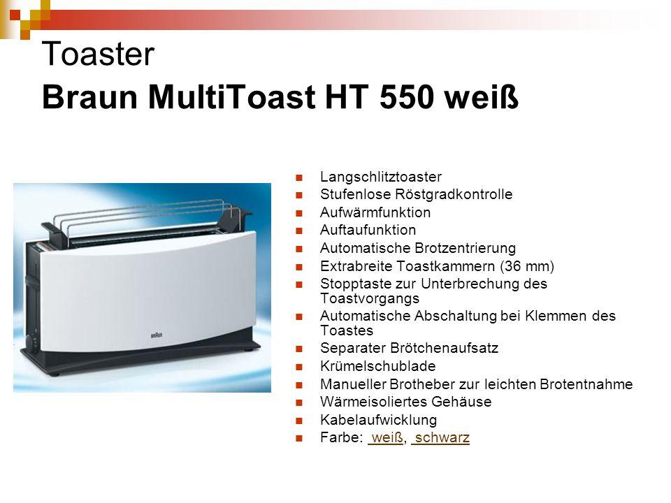 Toaster Braun MultiToast HT 550 weiß
