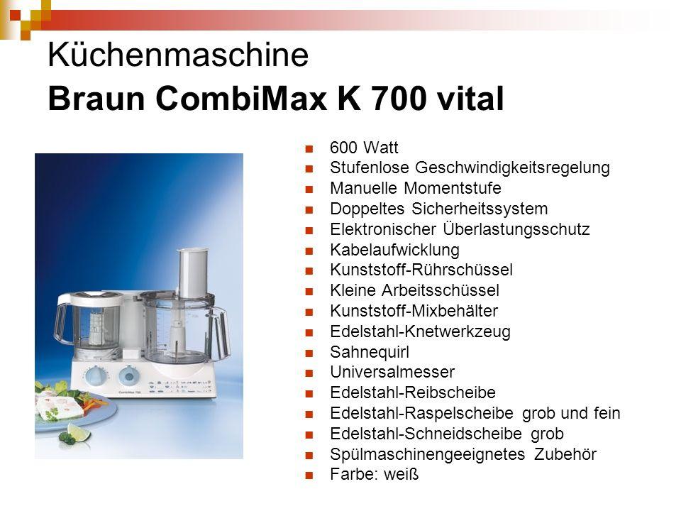 Küchenmaschine Braun CombiMax K 700 vital