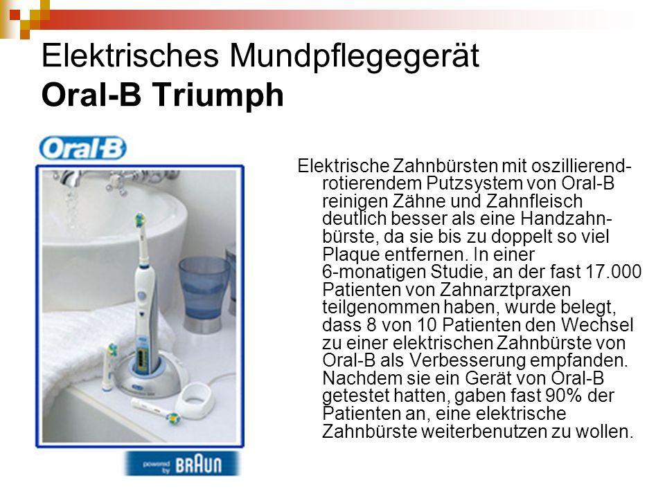 Elektrisches Mundpflegegerät Oral-B Triumph