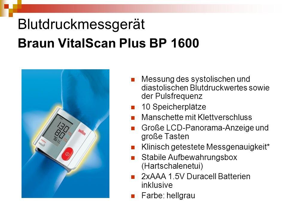 Blutdruckmessgerät Braun VitalScan Plus BP 1600