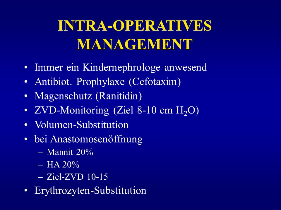 INTRA-OPERATIVES MANAGEMENT