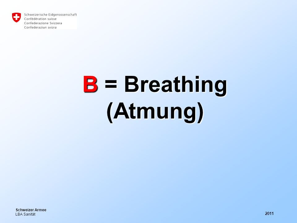 B = Breathing (Atmung) 2011