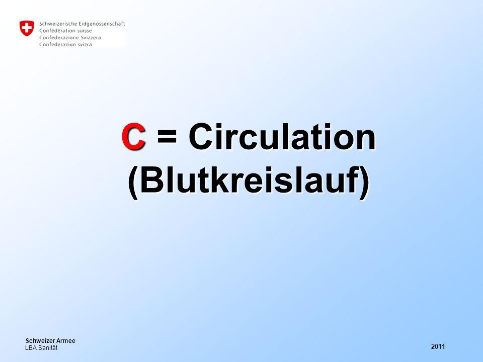 C = Circulation (Blutkreislauf)