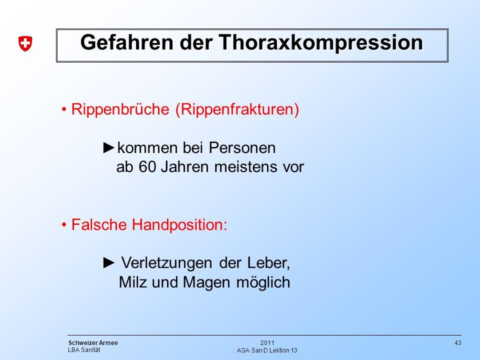 Gefahren der Thoraxkompression