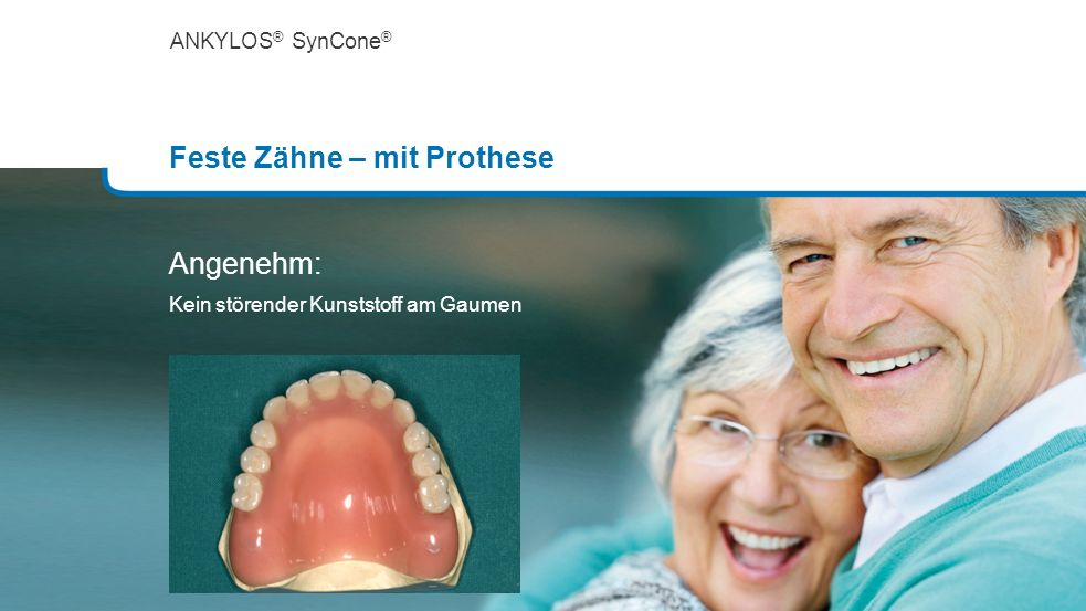 Feste Zähne – mit Prothese