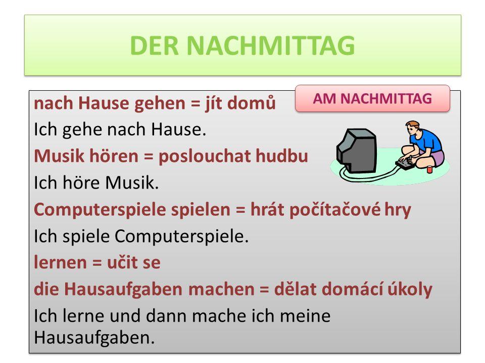 DER NACHMITTAG AM NACHMITTAG.