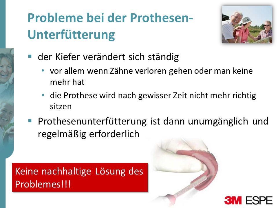 Probleme bei der Prothesen- Unterfütterung