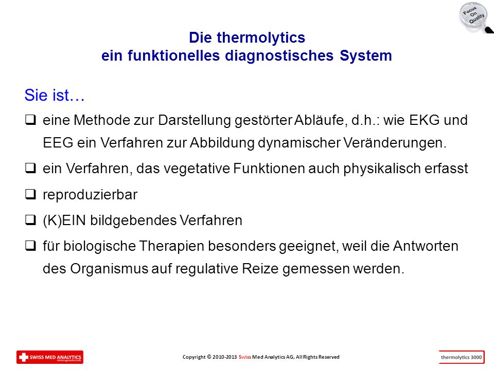 Die thermolytics ein funktionelles diagnostisches System