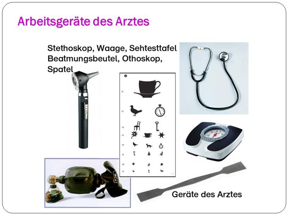 Arbeitsgeräte des Arztes