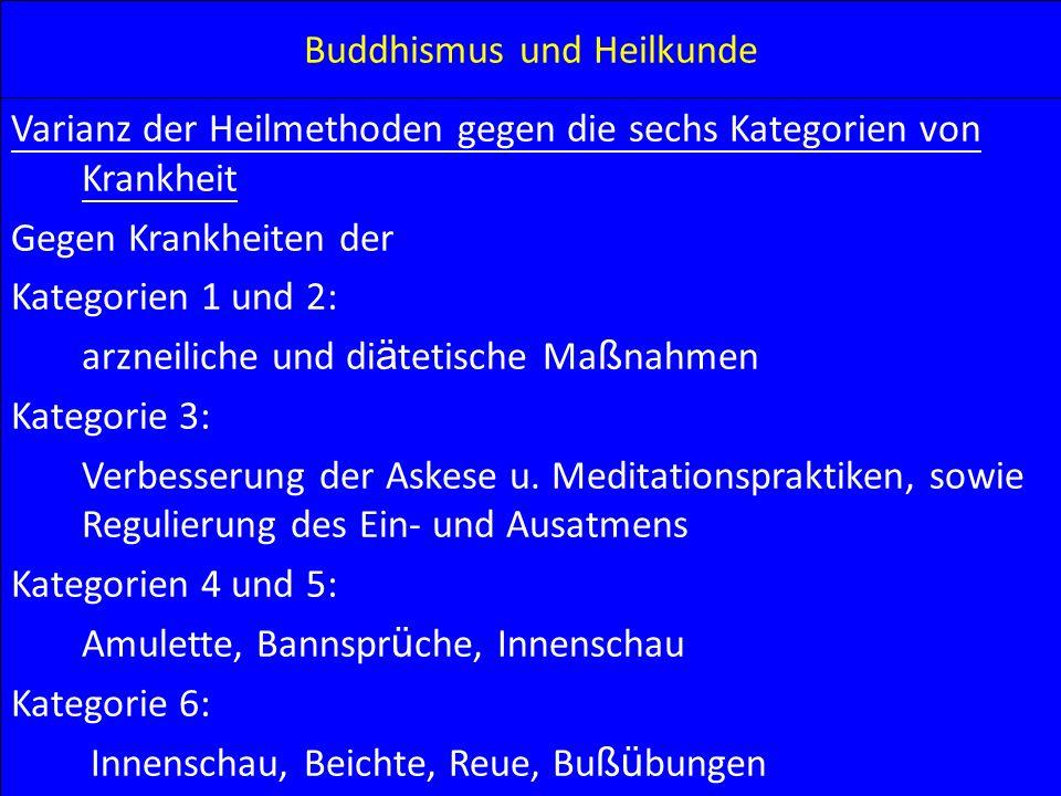 Buddhismus und Heilkunde