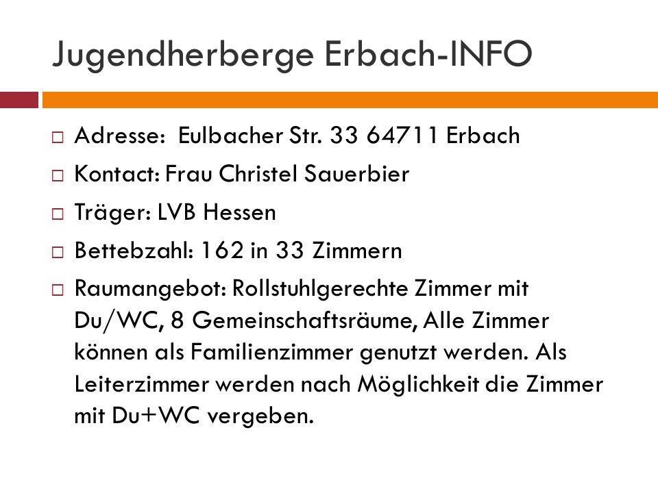 Jugendherberge Erbach-INFO