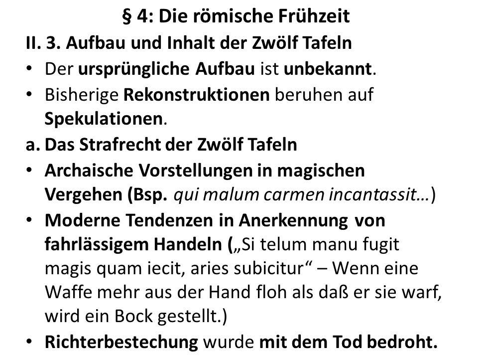 § 4: Die römische Frühzeit