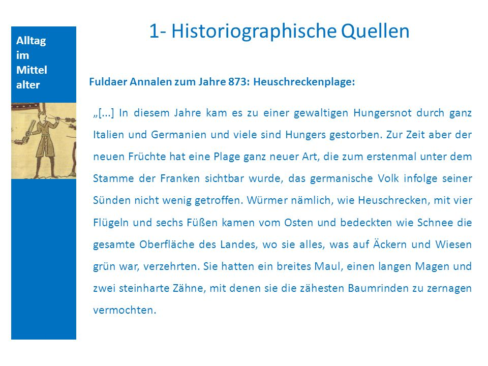1- Historiographische Quellen