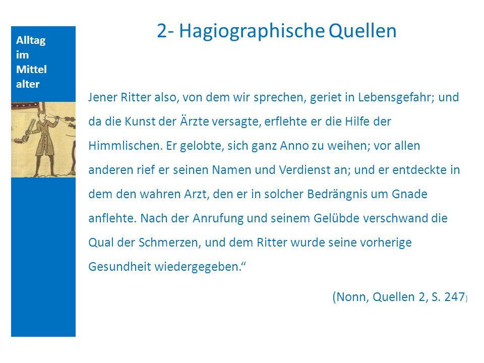 2- Hagiographische Quellen
