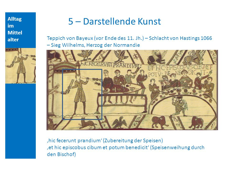 5 – Darstellende Kunst Alltag im Mittelalter