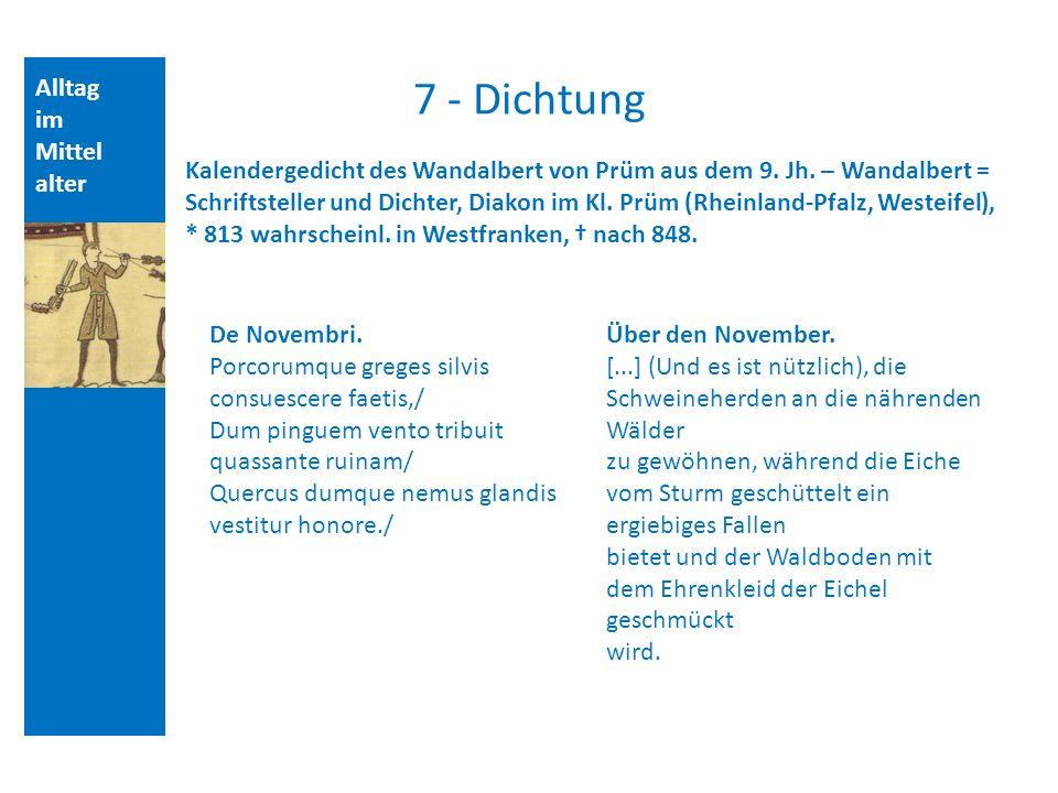 7 - Dichtung Alltag im Mittelalter