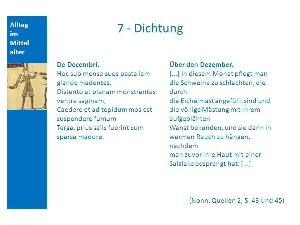 7 - Dichtung Alltag im Mittelalter De Decembri.