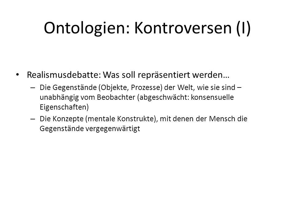 Ontologien: Kontroversen (I)