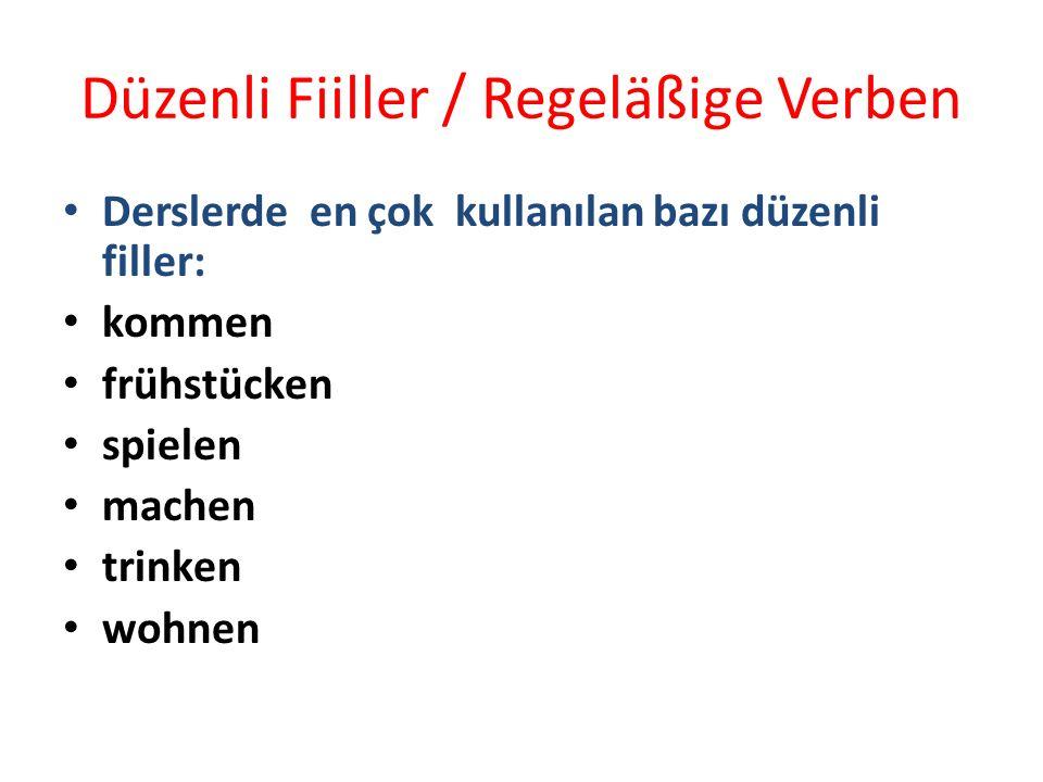 Düzenli Fiiller / Regeläßige Verben