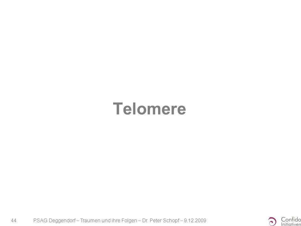 Telomere PSAG Deggendorf – Traumen und ihre Folgen – Dr. Peter Schopf – 9.12.2009
