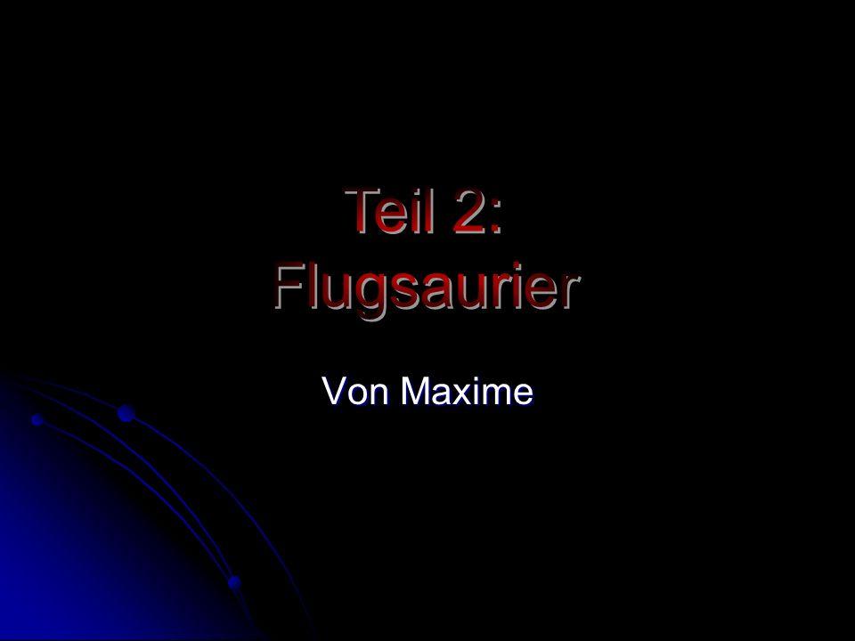 Teil 2: Flugsaurier Von Maxime