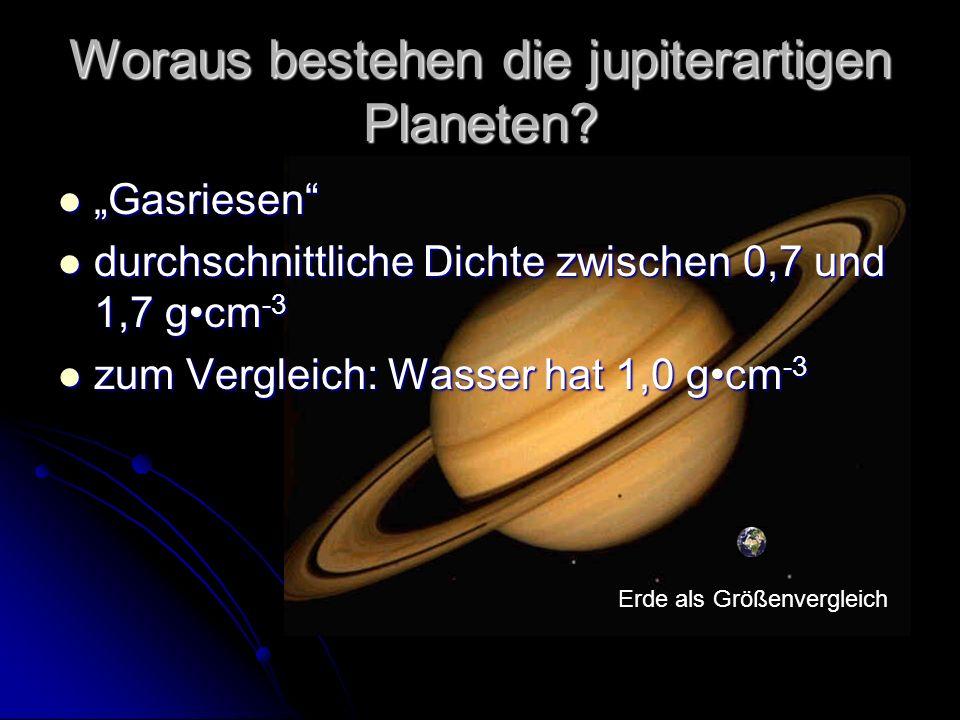 Woraus bestehen die jupiterartigen Planeten