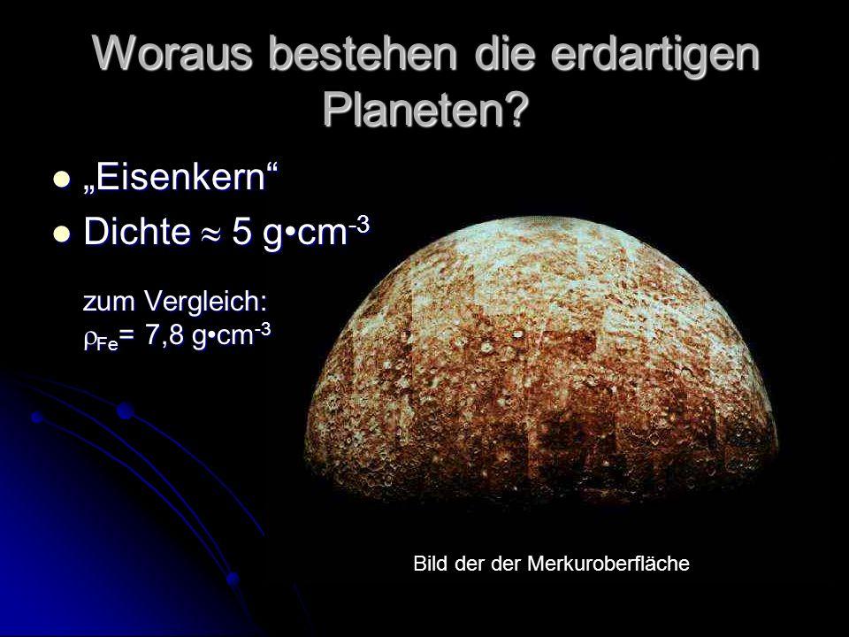 Woraus bestehen die erdartigen Planeten