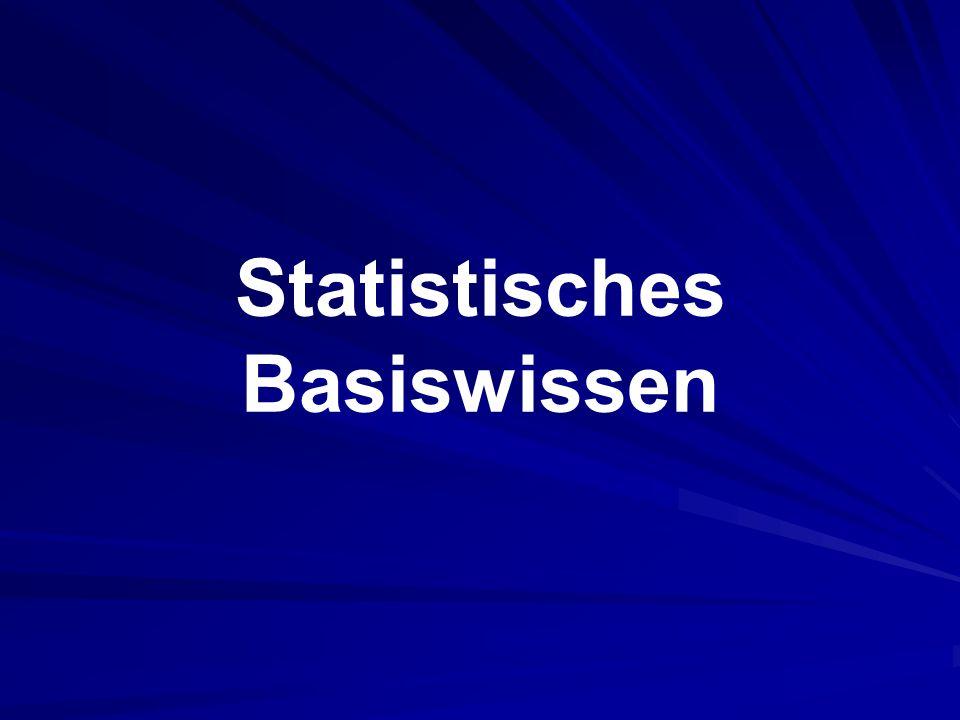 Statistisches Basiswissen