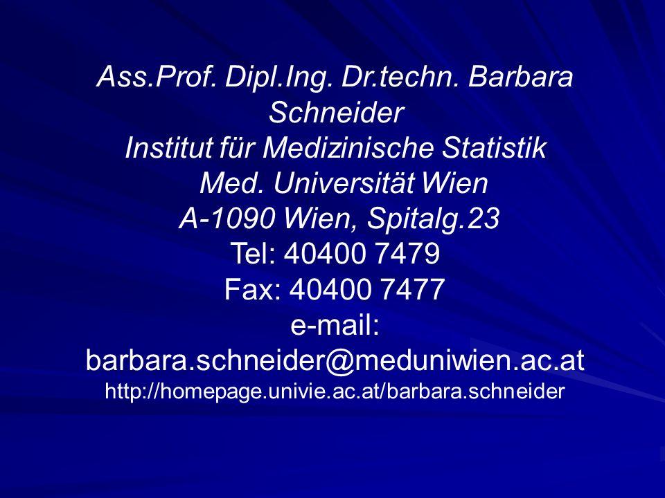 Ass.Prof. Dipl.Ing. Dr.techn. Barbara Schneider