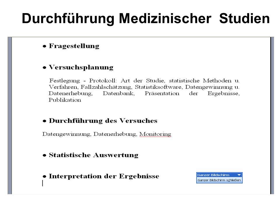 Durchführung Medizinischer Studien