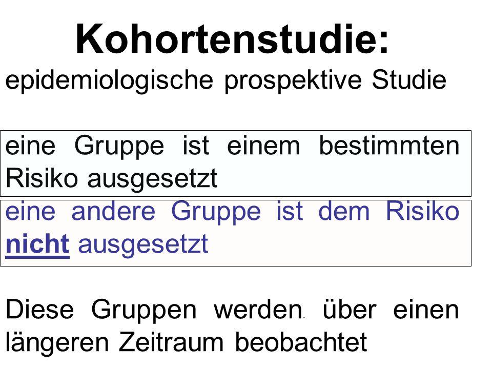Kohortenstudie: epidemiologische prospektive Studie