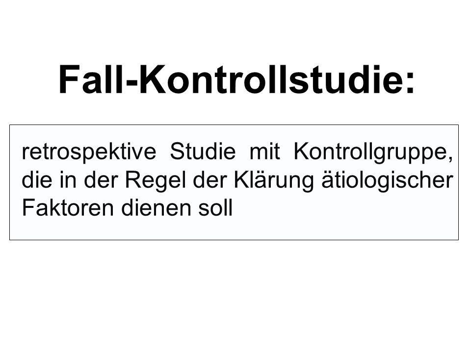 Fall-Kontrollstudie:
