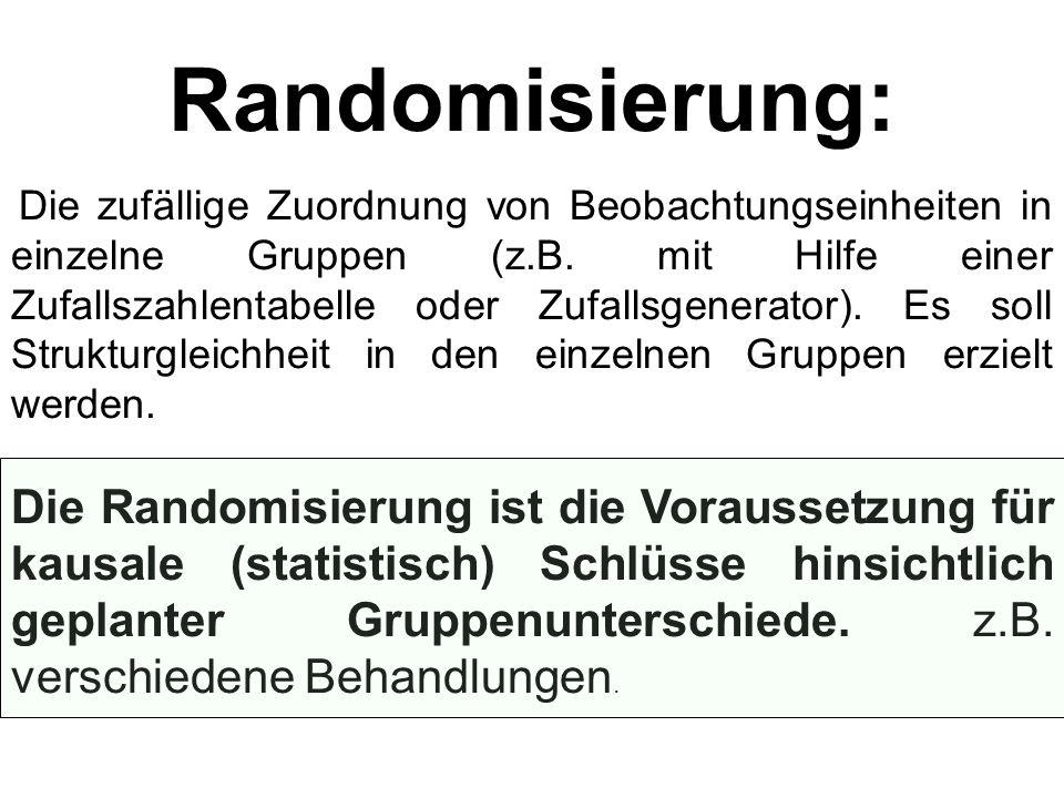 Randomisierung: