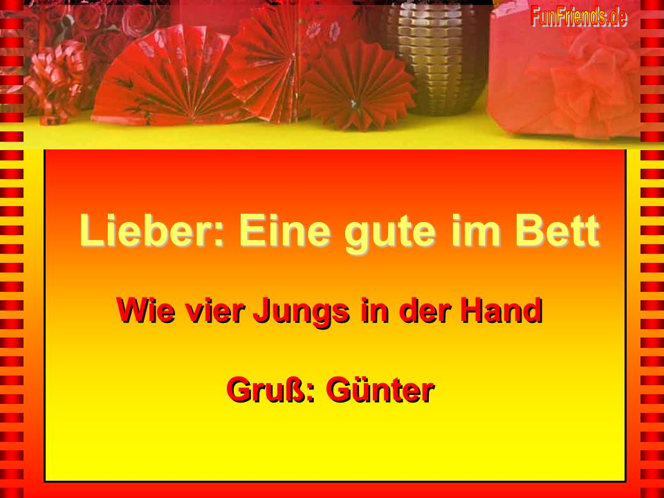 Wie vier Jungs in der Hand Gruß: Günter