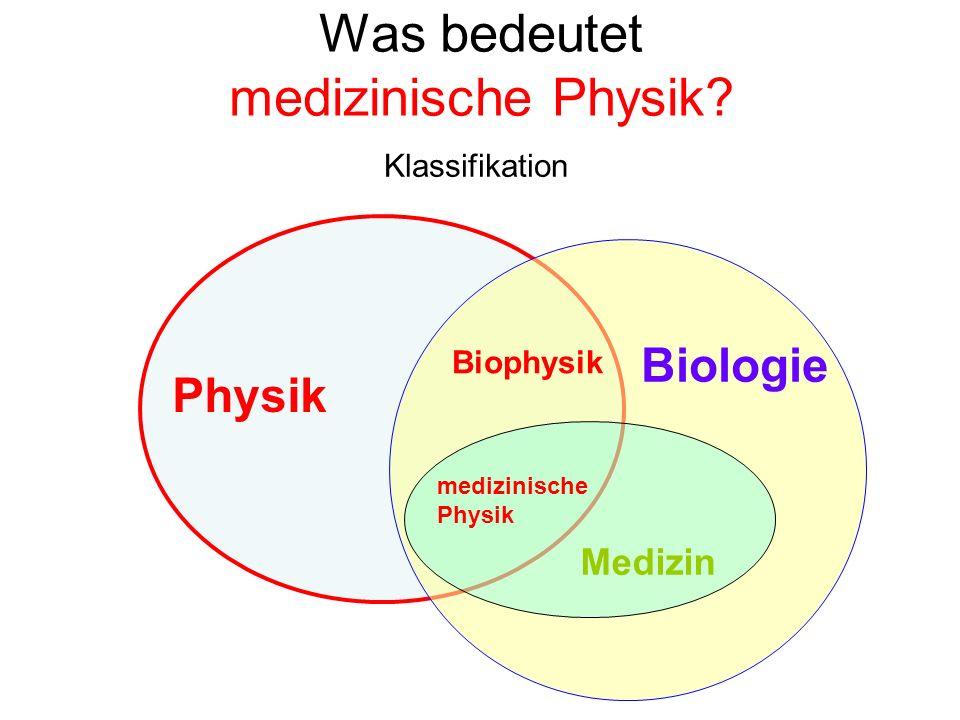 Was bedeutet medizinische Physik
