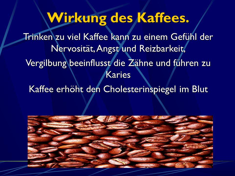 Wirkung des Kaffees. Trinken zu viel Kaffee kann zu einem Gefühl der Nervosität, Angst und Reizbarkeit,