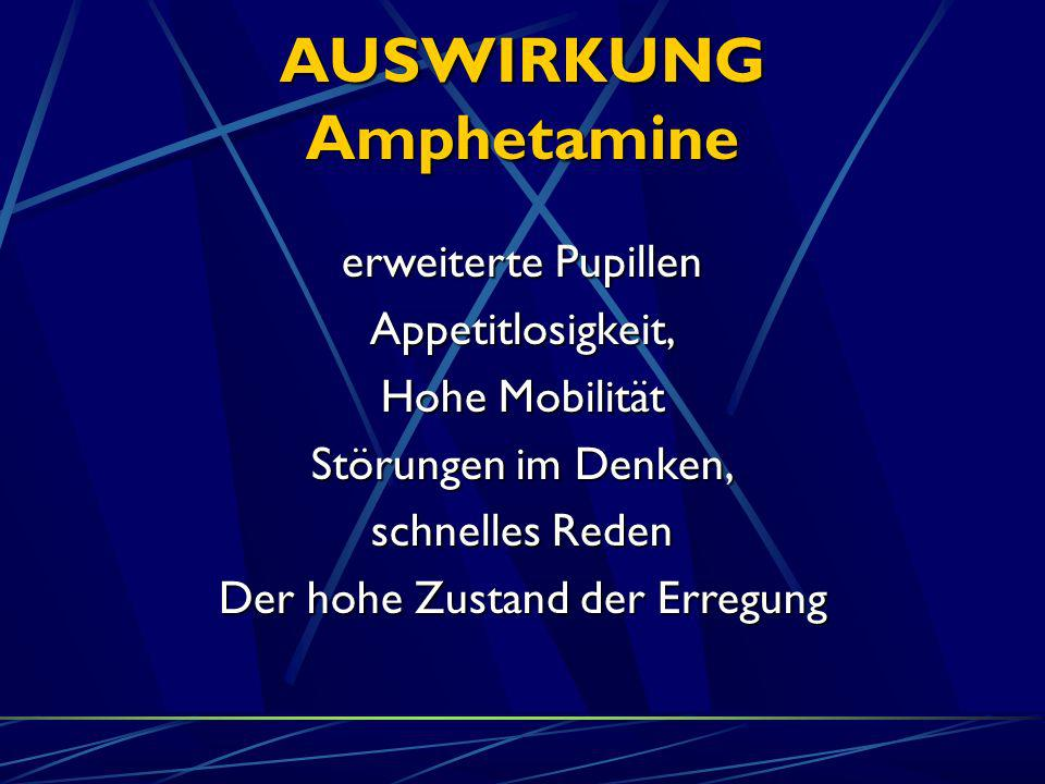 AUSWIRKUNG Amphetamine