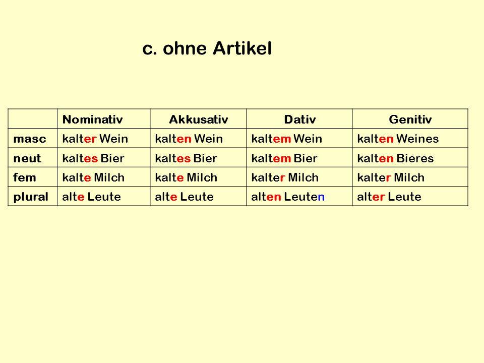 Adjektivendungen ppt herunterladen for Genitiv dativ akkusativ nominativ