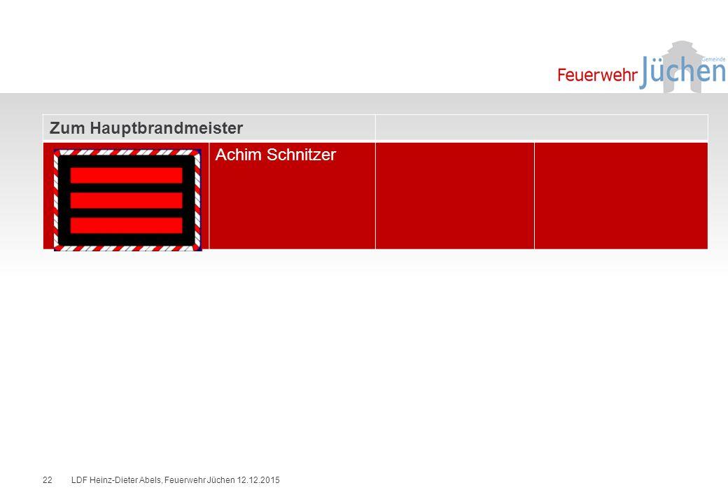Zum Hauptbrandmeister Achim Schnitzer
