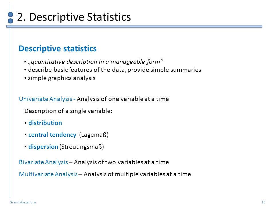 2. Descriptive Statistics