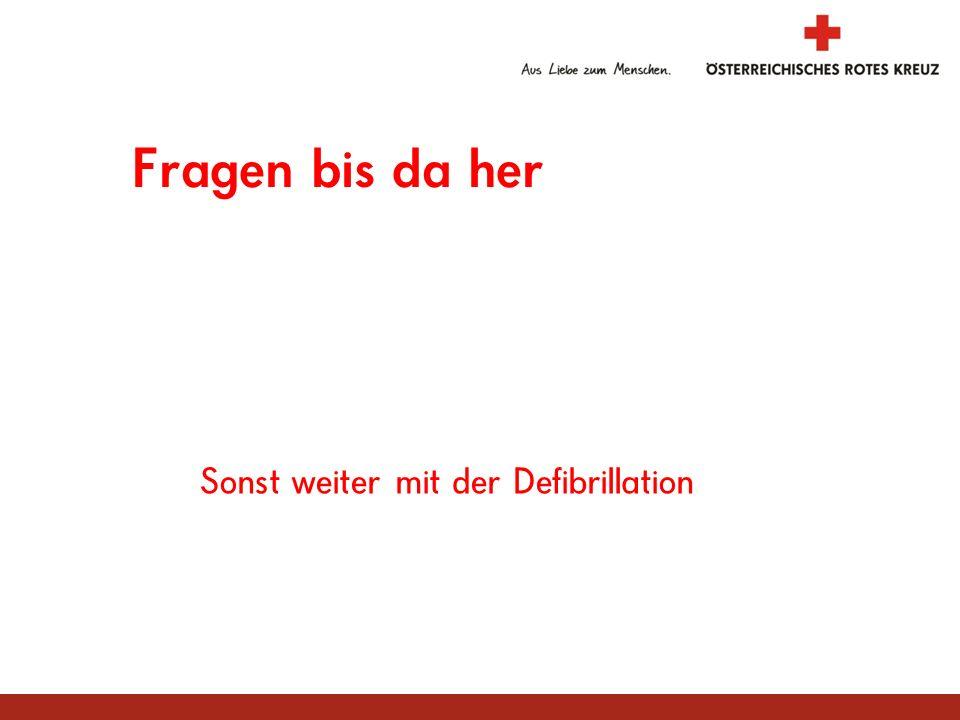 Sonst weiter mit der Defibrillation