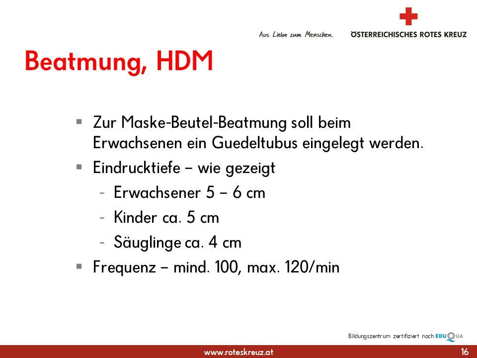 Beatmung, HDM Zur Maske-Beutel-Beatmung soll beim Erwachsenen ein Guedeltubus eingelegt werden. Eindrucktiefe – wie gezeigt.