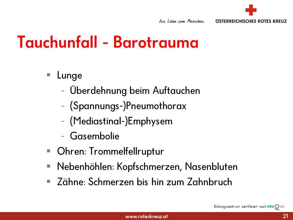 Tauchunfall - Barotrauma
