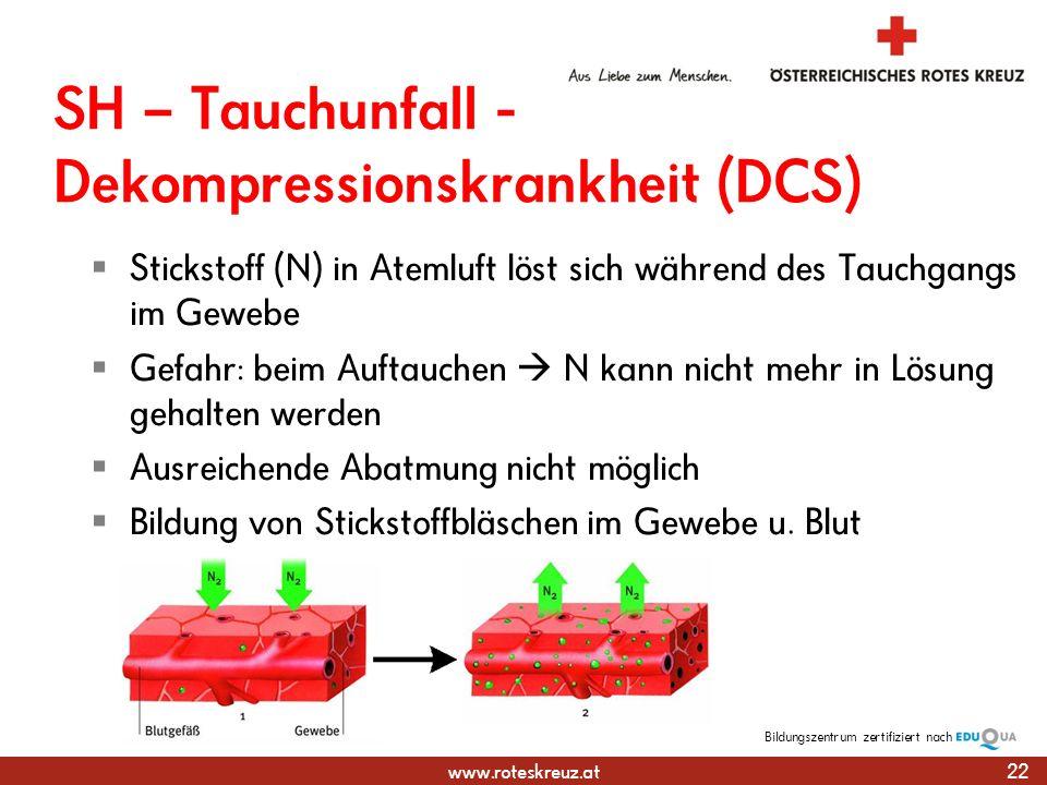 SH – Tauchunfall -Dekompressionskrankheit (DCS)