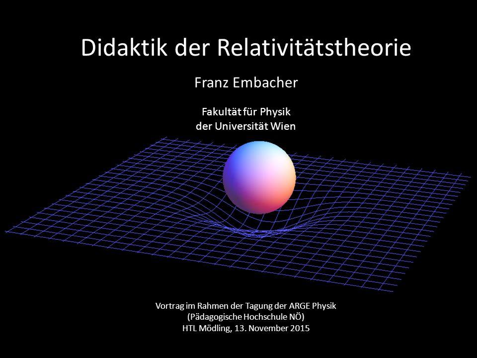 Didaktik der Relativitätstheorie