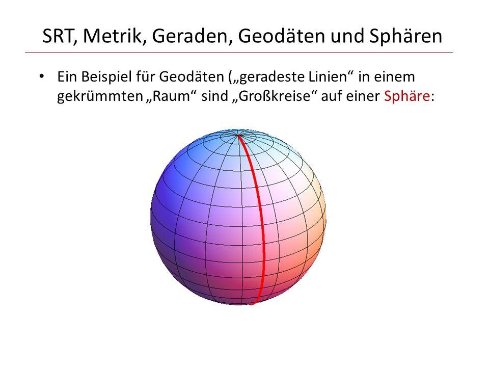 SRT, Metrik, Geraden, Geodäten und Sphären