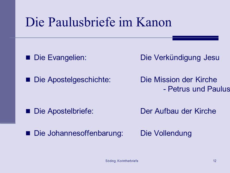 Die Paulusbriefe im Kanon