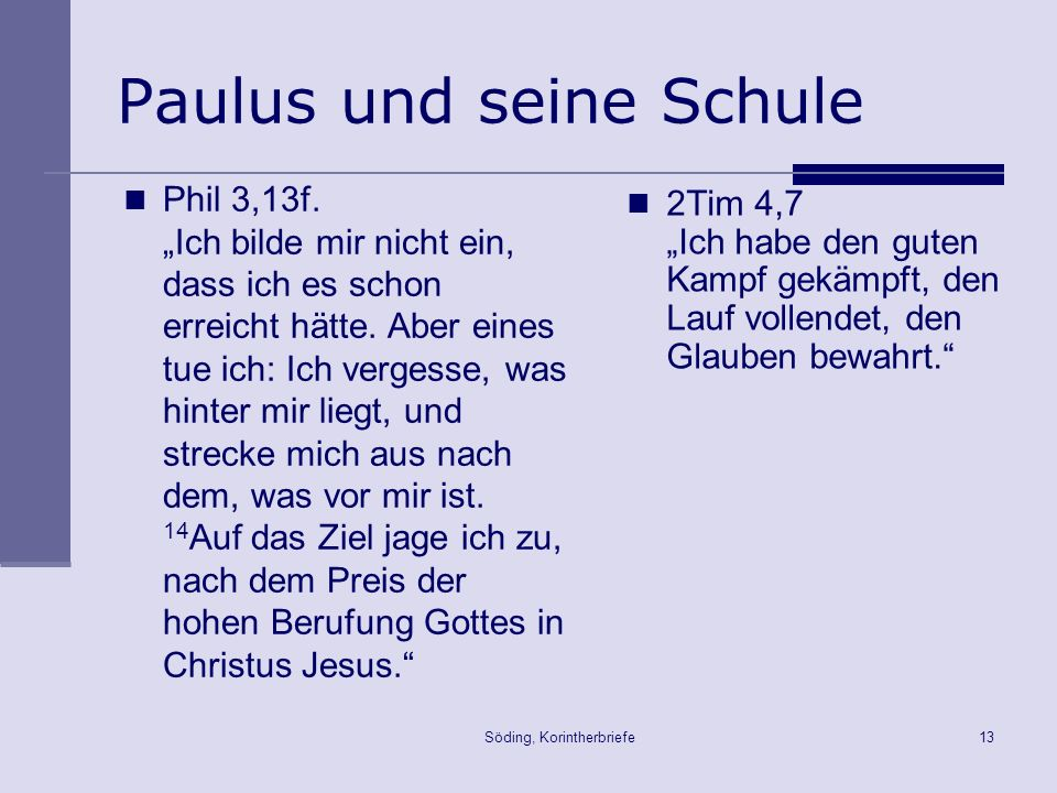 Paulus und seine Schule