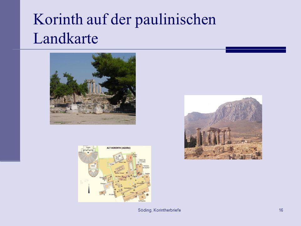 Korinth auf der paulinischen Landkarte