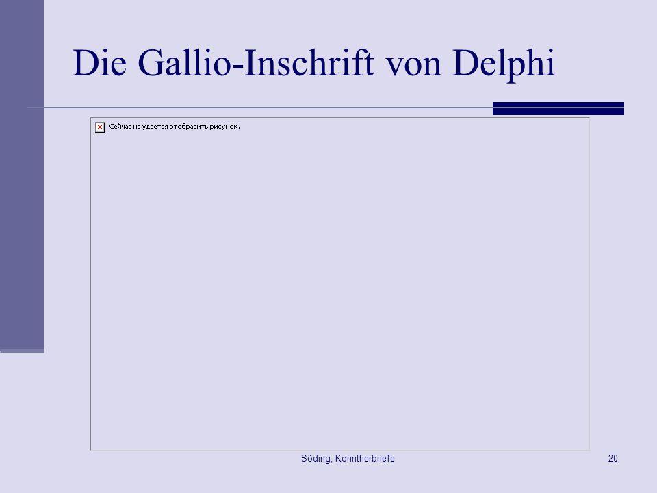 Die Gallio-Inschrift von Delphi